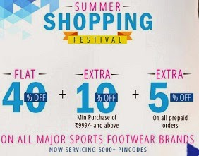PlanetSports Offer: Flat 40% Off + Extra 10% Off on Sports Shoes (Puma, Nike, Fila, Adidas, Skechers & more) + Extra 5% on Pre-paid Orders