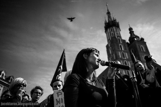 Czarny Protes, przeciwko zaostrzeniu ustawy aborcyjnej, Krakow 2016