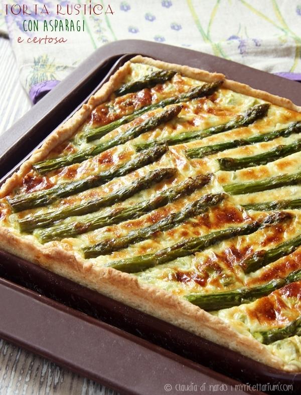 Torta rustica con asparagi e certosa