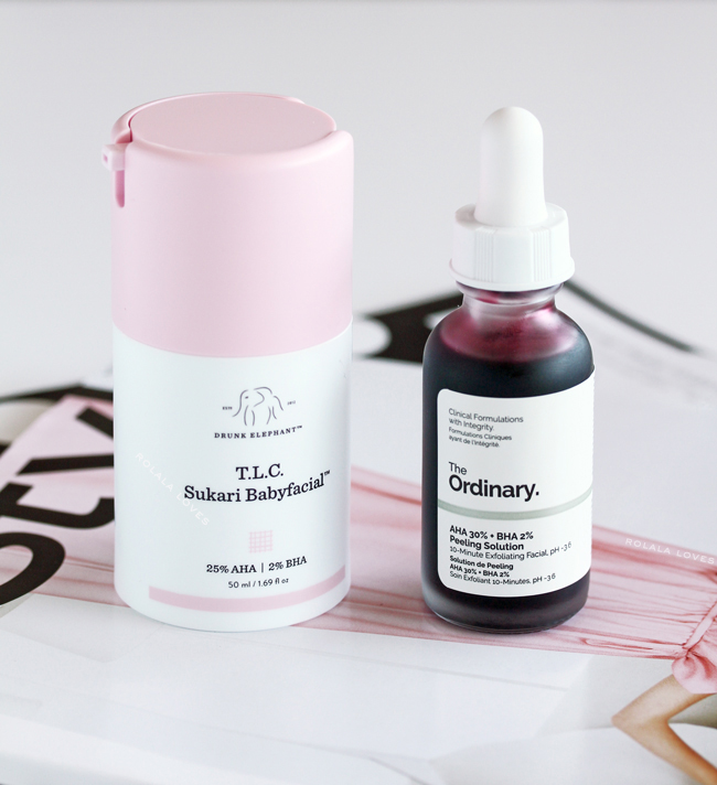 Drunk Elephant TLC Sukari Babyfacial vs. The Ordinary AHA 30% + BHA 2% Peeling Solution, A Comparison of Drunk Elephant TLC Sukari Babyfacial & The Ordinary AHA 30% + BHA 2% Peeling Solution, Is the The Ordinary AHA 30% + BHA 2% Peeling Solution a dupe for Drunk Elephant Babyfacia