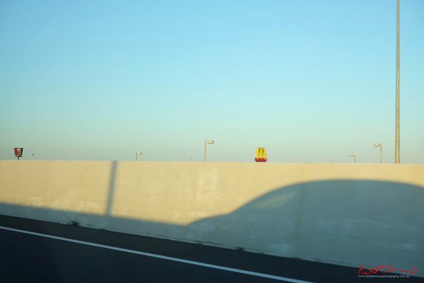 Art photograph  'Fast Food From the Freeway' by Kent Johnson.