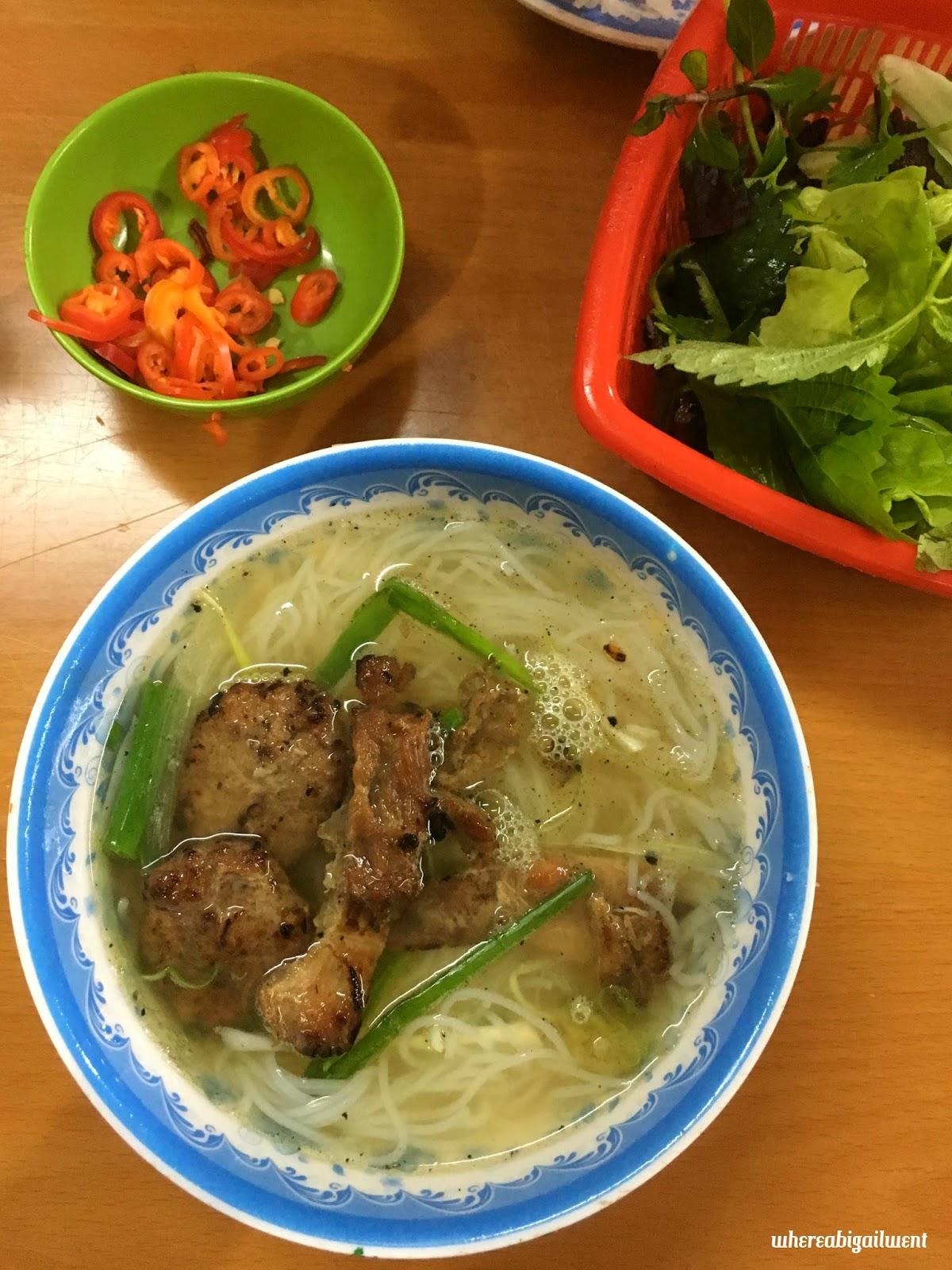 Soup-style Bun Noodles Old Quarter Hanoi