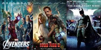 Szuperhős filmek a filmbevétel top 10-ben