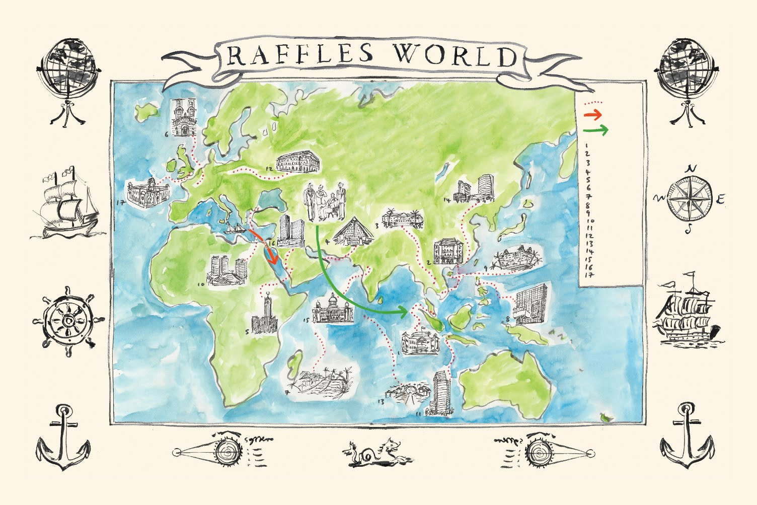 source raffles hotels resorts illustration from soirees sojourns stories