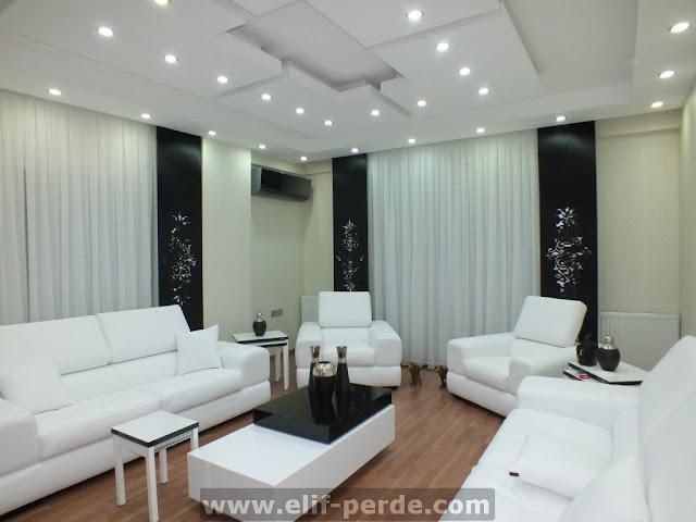 Oturma Odası Perde Modelleri | Oturma Odası Perde
