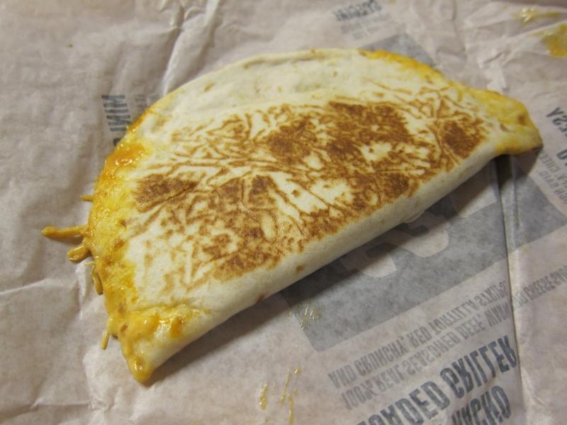 Review Taco Bell - Shredded Chicken Mini Quesadilla -6993