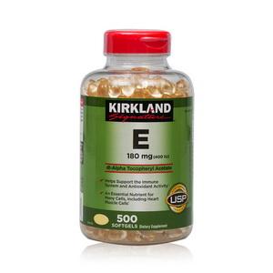 Viên uống Vitamin E Kirkland 400IU đẹp da loại 500 viên của Mỹ
