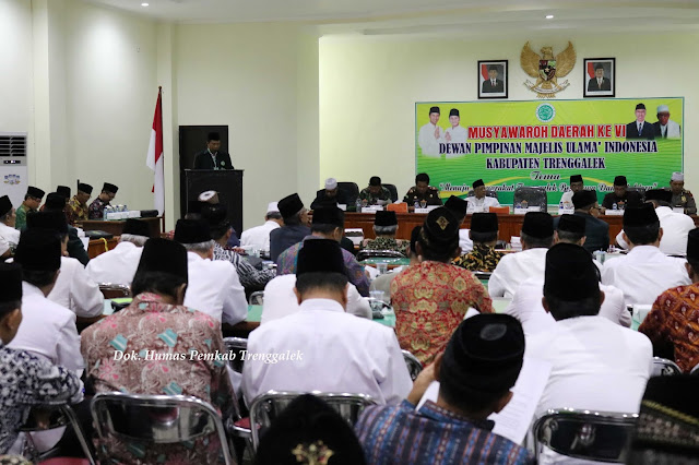 Musda ke VI Bupati minta Majelis Ulama Indonesia Kabupaten Trenggalek Menjadi Pebimbing Kerukunan Antar Umat Islam