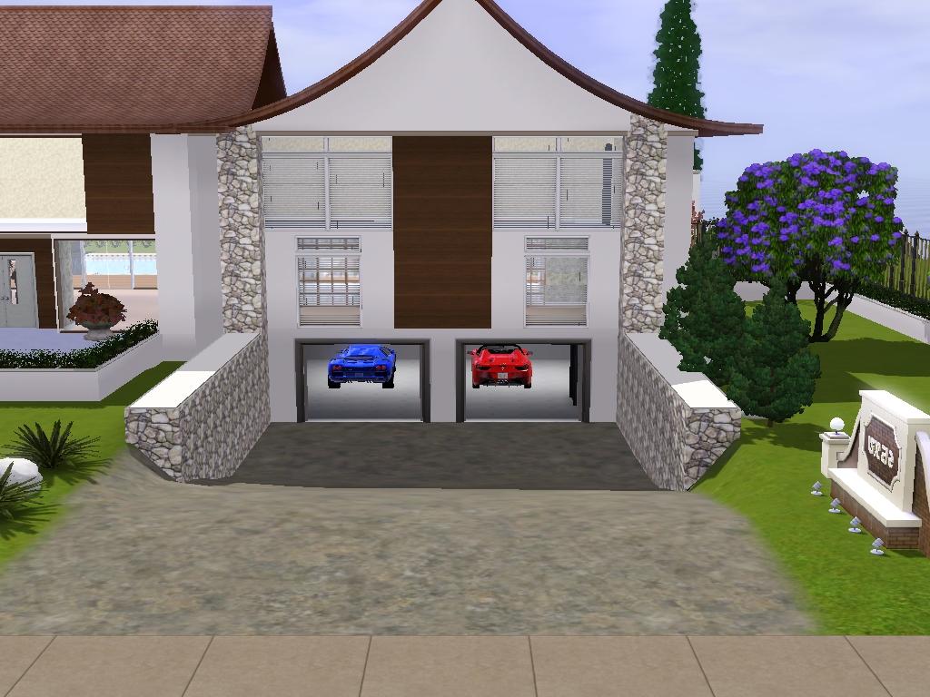 Casa moderna the sims 3 for Casa moderna sims 3 sin expansiones