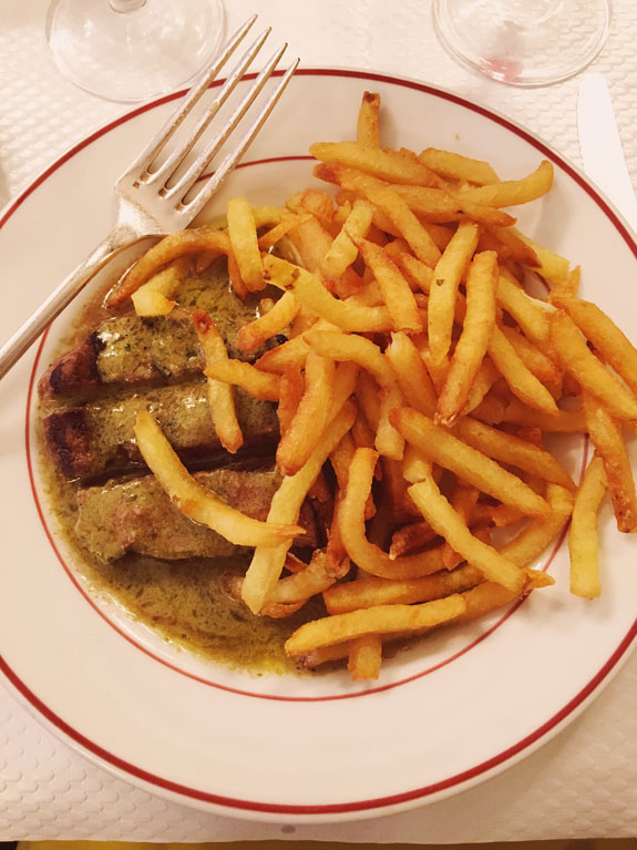 where to eat in paris steak frites