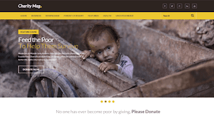 CharityMag Free Blogger Template