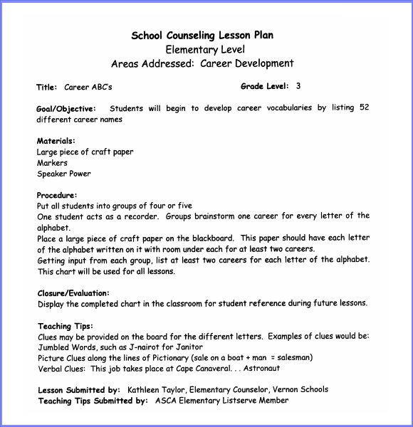 Adaptability To Online Learning Differences Across Types Of - School counselor lesson plan template