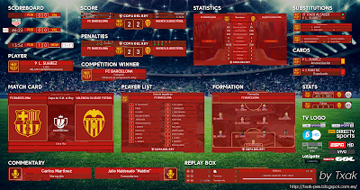 PES 2018 Copa Del Rey Scoreboard by Txak