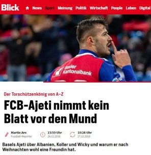 Albian Ajeti: this is why I choose Switzerland and not Albania...