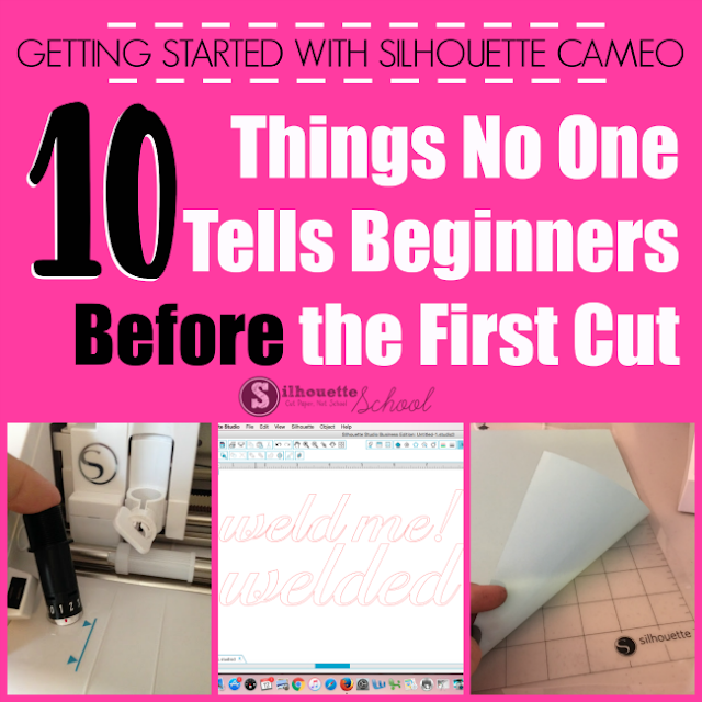 first Silhouette CAMEO project, silhouette cameo beginner, silhouette cameo first cut