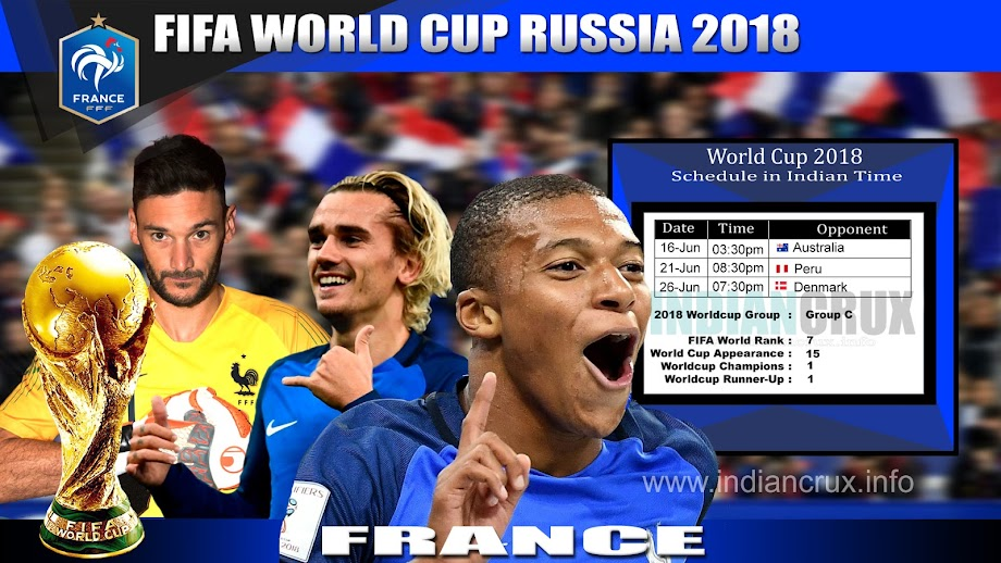 France Team Schedule (Downloadable) at 2018 FIFA World Cup