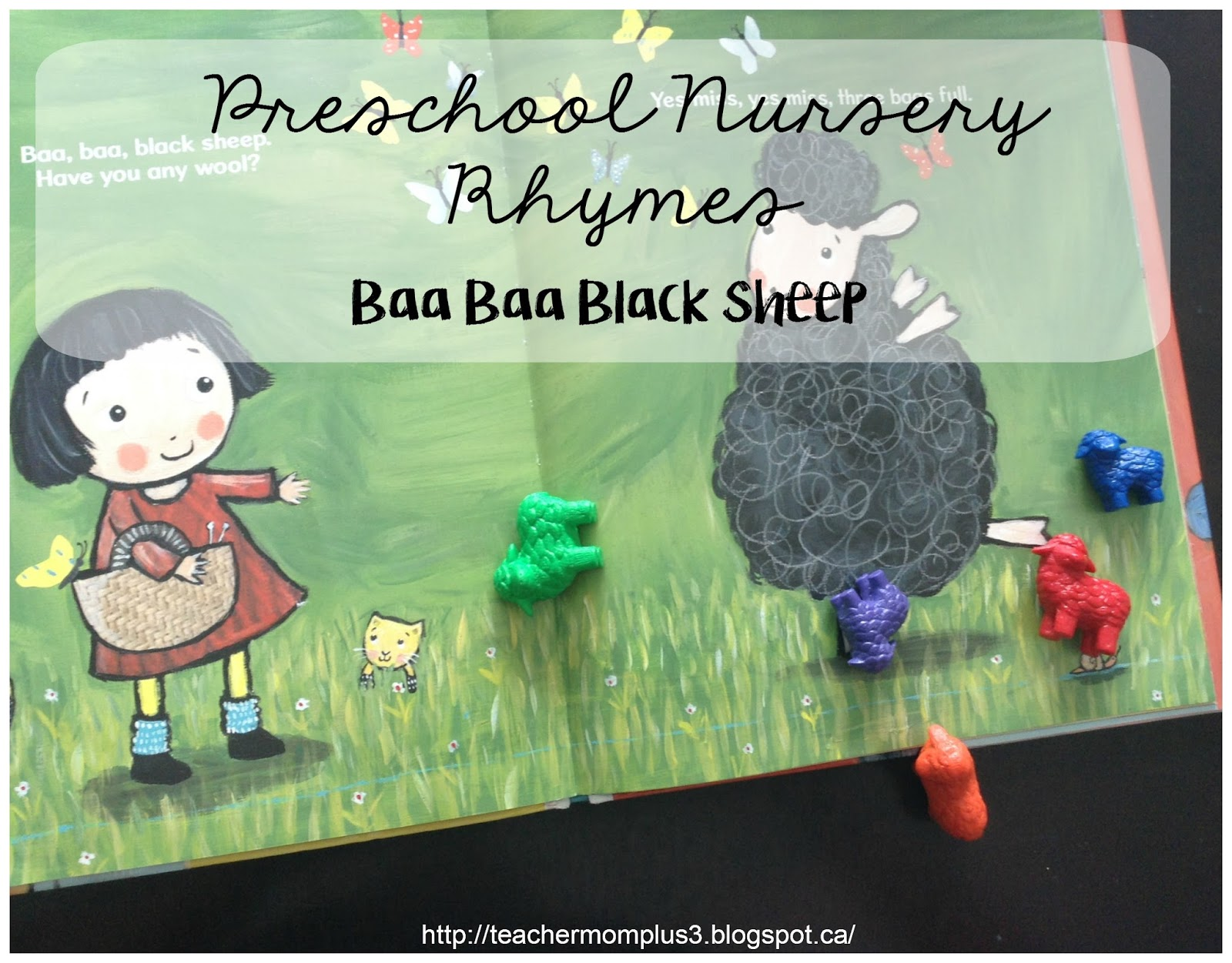 Teachermomplus3 Preschool Nursery Rhyme Activities Baa Baa Black Sheep