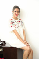 Lavanya Tripathi in Summer Style Spicy Short White Dress at her Interview  Exclusive 112.JPG