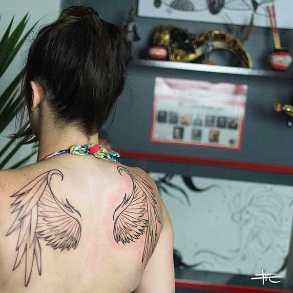 wing tattoo for back tumblr