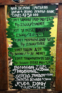 Daftar harga wahana di The Ranch - Cisarua - Bogor