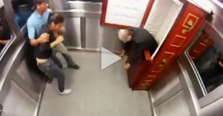 "Pranks sometimes fail, just like this extremely funny ""Coffin in Elevator"""