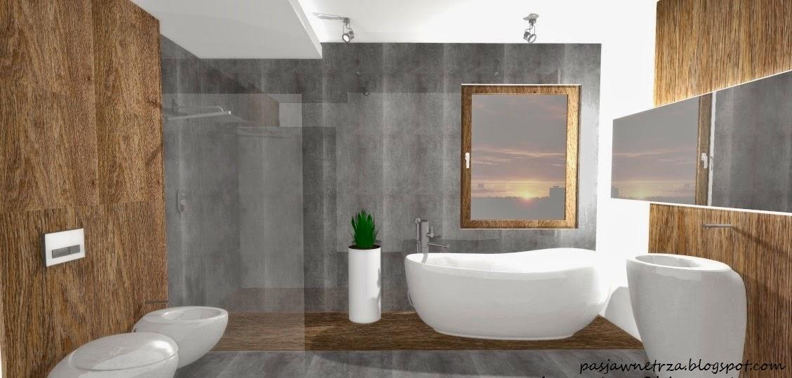 Z Pasji Do Wnętrza Projekt łazienki Z Drewnem Urządzanie Wnętrz