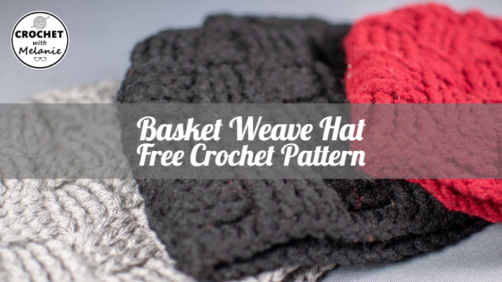 Basket Weave Hat Free Crochet Pattern