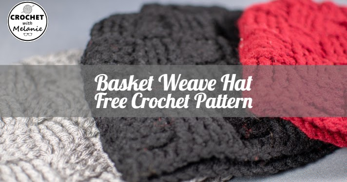 0ccbae68856 Basket Weave Hat Free Crochet Pattern