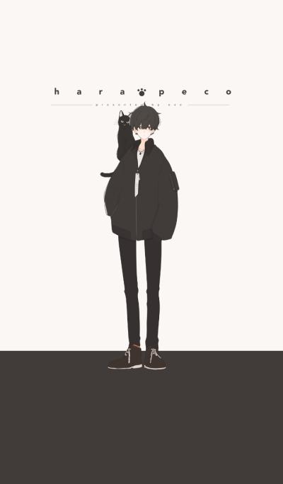 Black boy and Black cat