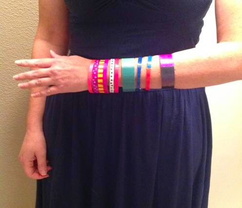 Make Your Own Colorful DIY Bangle Bracelets