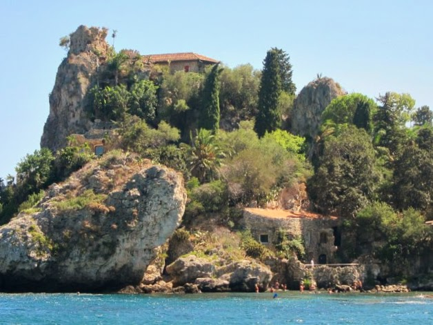 Ön Isola Bella vid Taormina på Sicilien