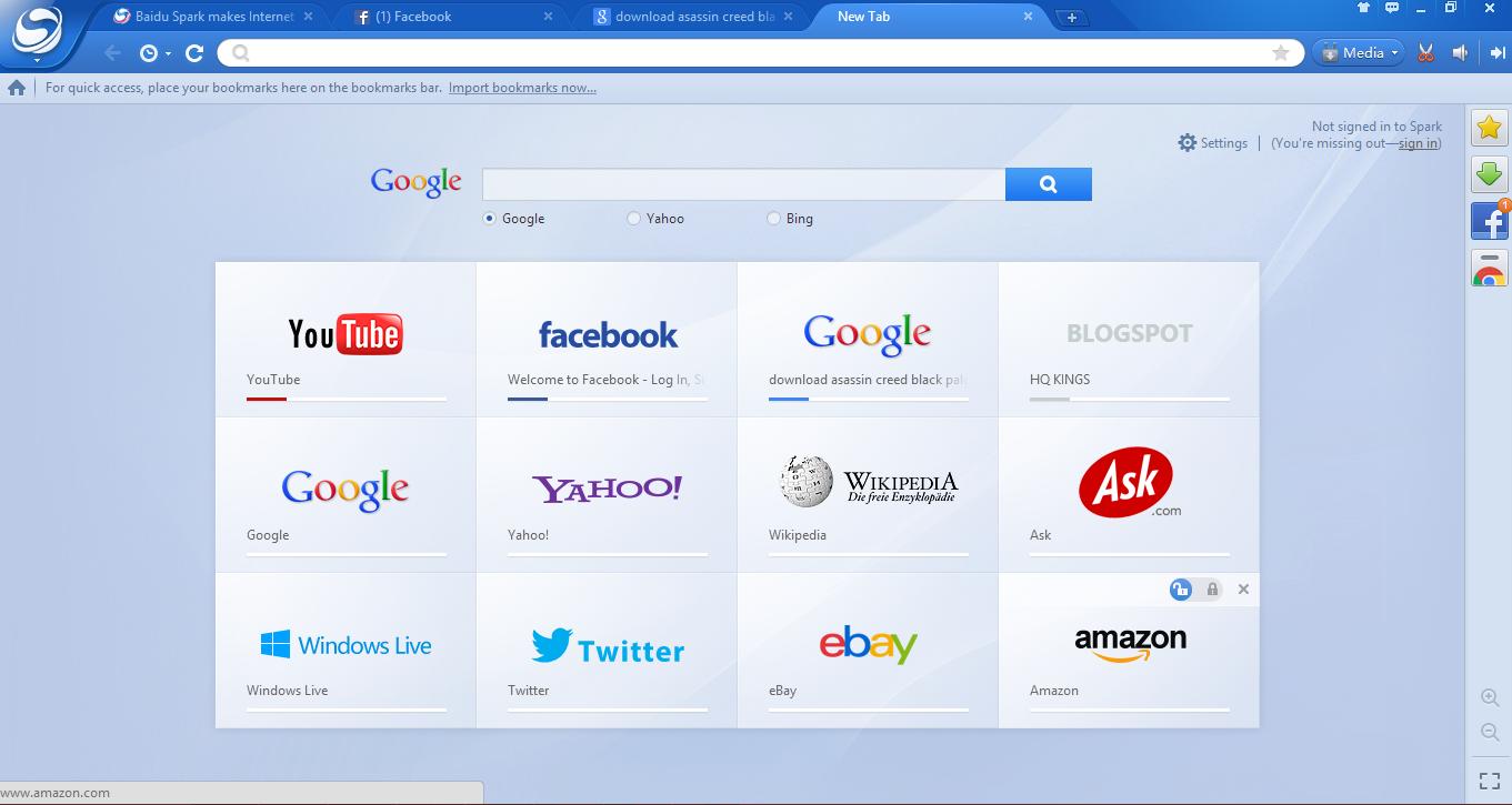 Download Baidu Spark Browser 26.3.9999.1648 Update Terbaru 2014