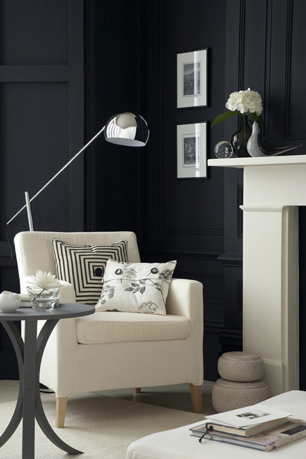 Hogares frescos 30 exquisitas paredes interiores negras for Requisitos para estudiar diseno de interiores