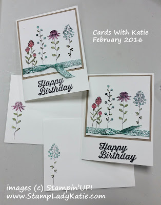Card made with Stampin'UP!'s Flowering Fields Stamp Set
