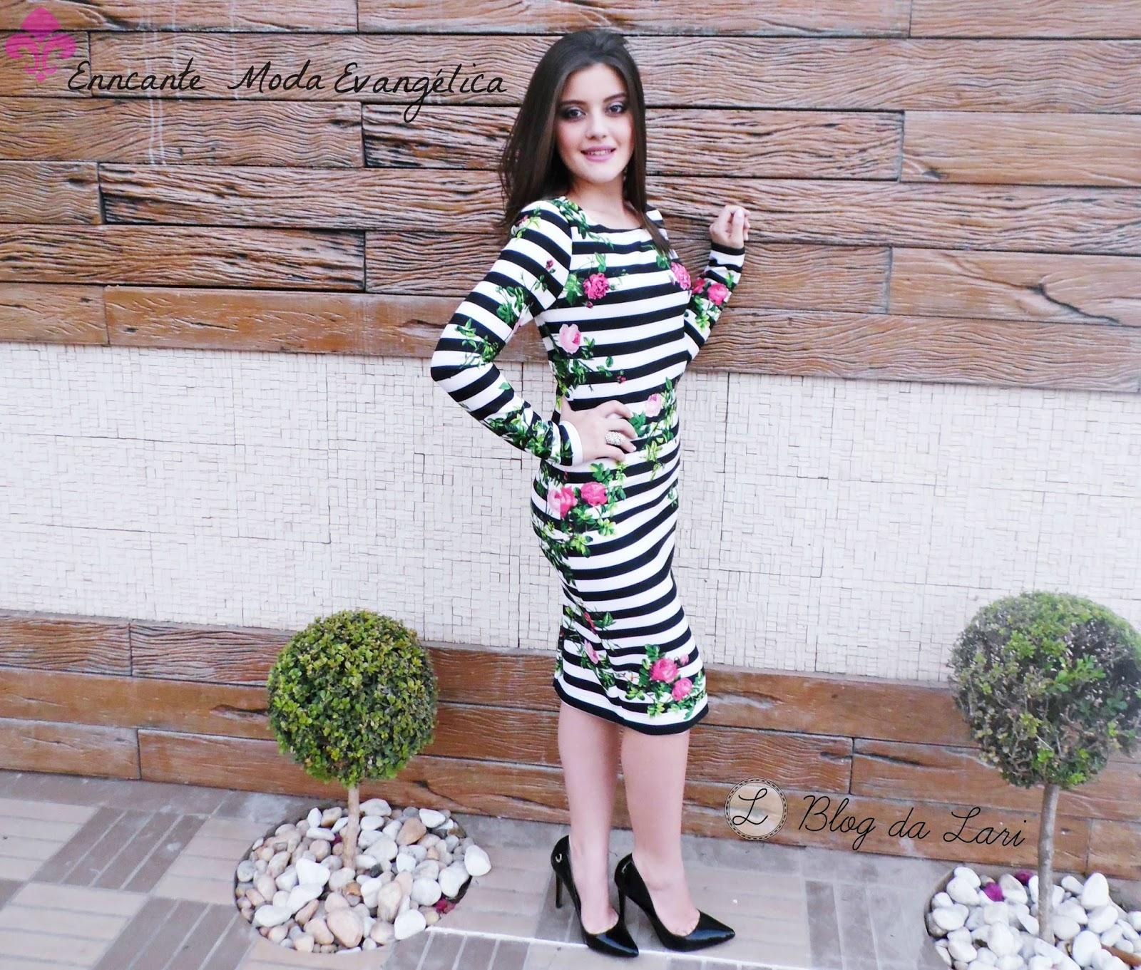33b8158a87e Blog da Lari  Look do dia  Vestido Marina - Enncante Moda Evangélica