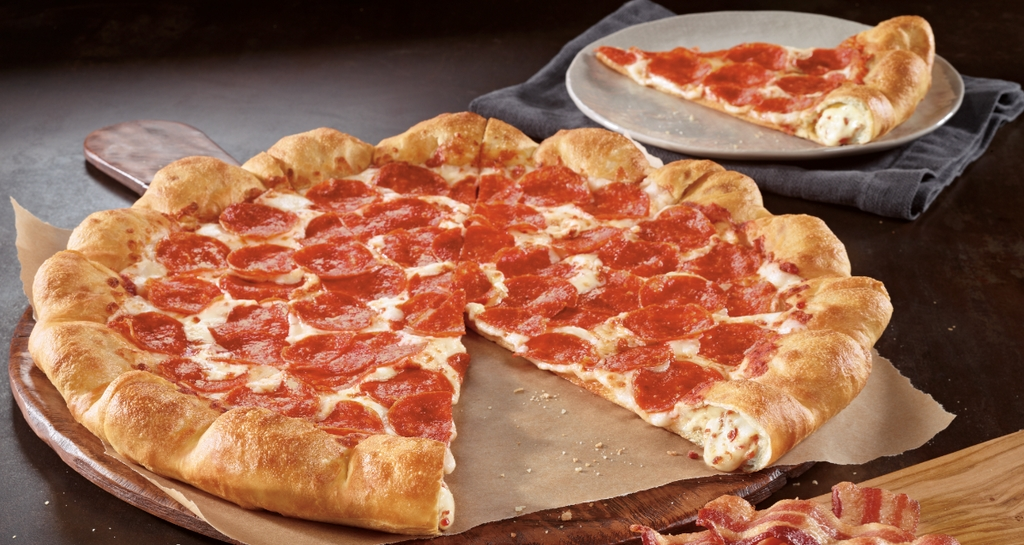News Pizza Hut New Bacon And Cheese Stuffed Crust Pizza