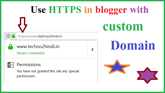 how to enable https in blogger with custom domain in hindi