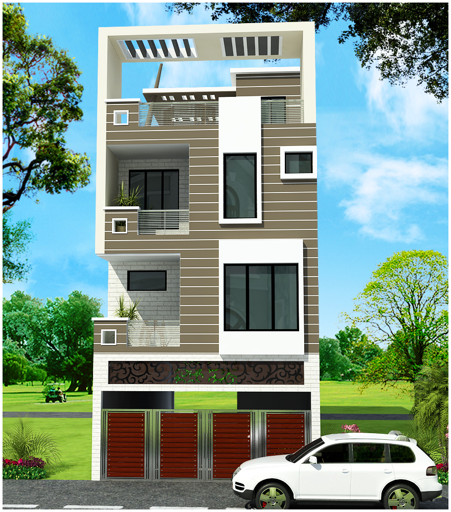 Triplex house plans india house plan 2017 for Triplex plans for narrow lots