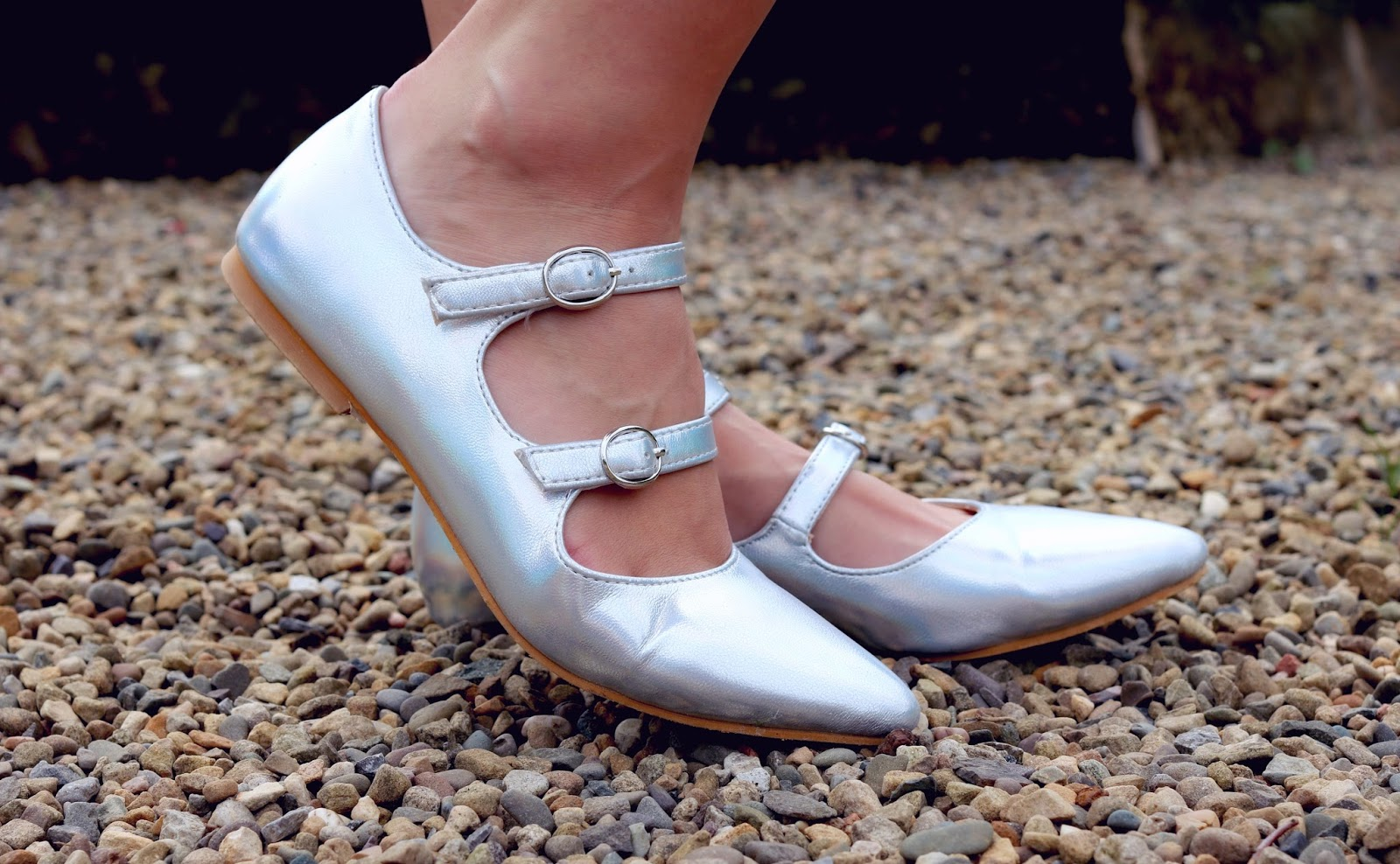 Daisy Street Holographic Shoes
