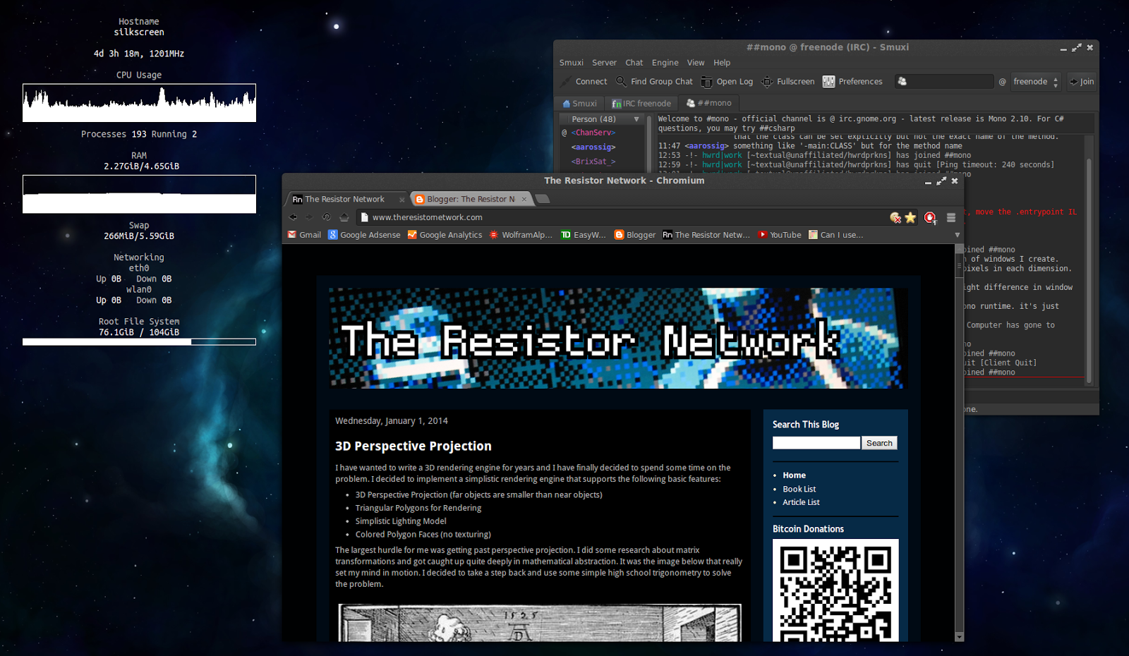 The Resistor Network: Snow Day: Conky Configuration Time!