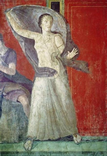 Desconocido - Mujer con estrellas - Villa dei Misteri, Muro Norte, Pompeya, Italia - c. 60-50 aC.