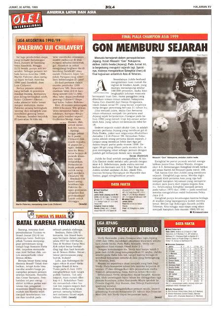FINAL PIALA CHAMPION ASIA 1999 GON MEMBURU SEJARAH