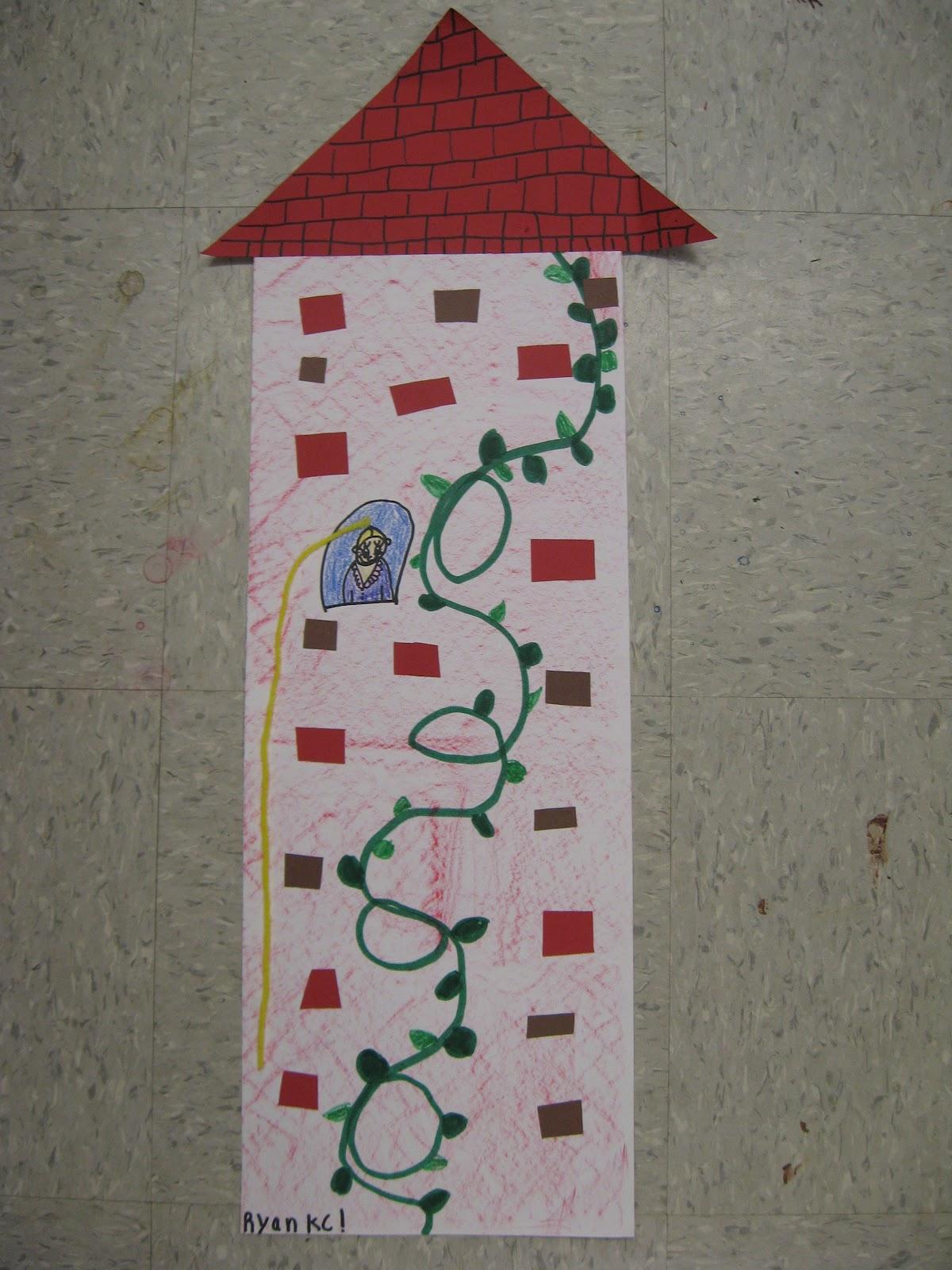 Jamestown Elementary Art Blog Kindergarten Rapunzels