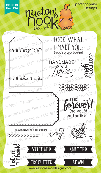 Tag Sampler | 4 x 6 Handmade Tag Stamp set | Newton's Nook Designs #newtonsnook