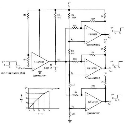 Delay Generator Circuit Diagram using LM139