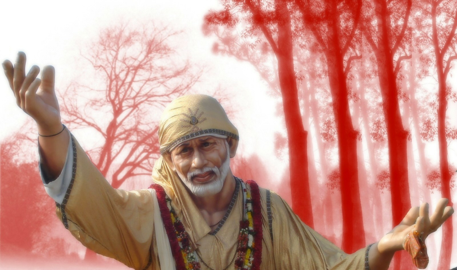 3d Sai Baba Wallpaper For Mobile