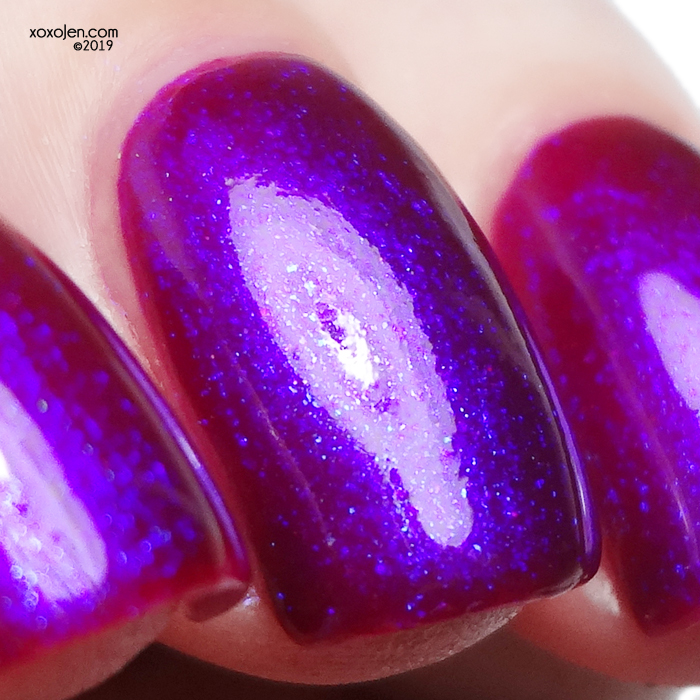 xoxoJen's swatch of Great Lakes Lacquer Washed In Magenta v2