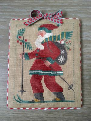 The Prairie Schooler, Santa Claus, Papa Noel, bordado, embroidery, broderie, punto cruz, cross stitch, point croix, Christmas, Noel, Navidad