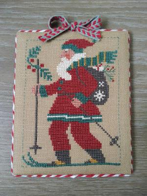 The Prairie Schooler, Santa Claus, Papa Noel, bordado, embroidery, broderie, punto cruz, cross stitch, point croix, Christmas, Noel, Navidad