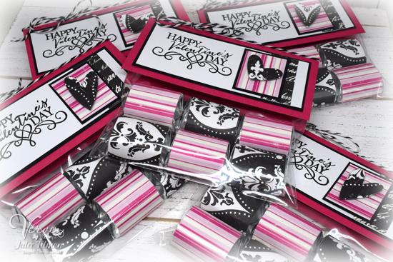 Valentine Hershey Nugget Treat Bags by Julee Tilman www.poeticartistry.blogspot.com